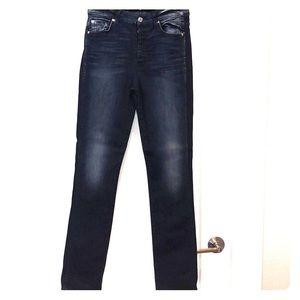 Women's, size 28/31 high waist straight, (SEVENS)